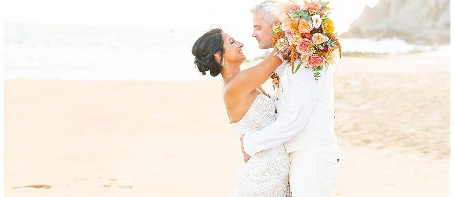 Warm Desert Boho Wedding in Cabo | Cabo San Lucas, Mexico Destination Wedding | Sandos Finisterra Los Cabos